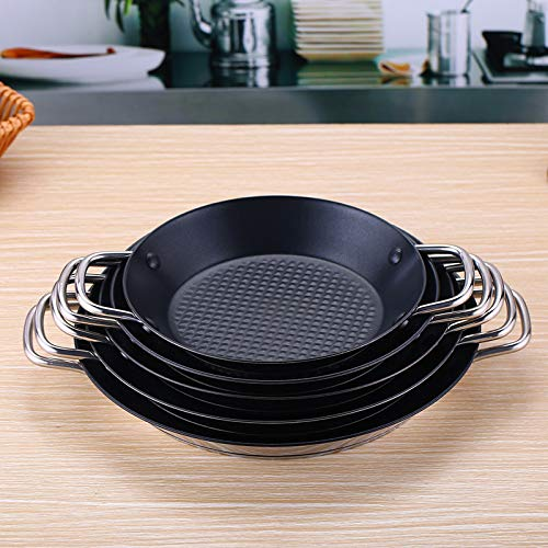 GUOJIAYI Stainless steel frying pan Spanish seafood rice pie steak pot lobster non stick stew risotto omelet pan crepe jam cookware