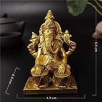 仏像音楽ゾウの神Ganesh彫刻置物の装飾品ホーム庭の装飾仏