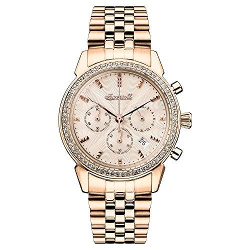 Ingersoll Damen Analog Quarz Uhr mit Edelstahl Armband I03904