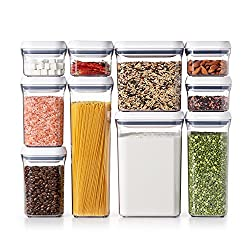OXO Good Grips 10-Piece Airtight Food Storage POP Container Value Set, Standard Packaging