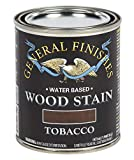 General Finishes Water Based Wood Stain, 1 Pint, Tobacco