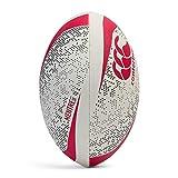 Canterbury Mentre Balón de Rugby, Unisex Adulto, Blanco/Verde/Rojo, 3