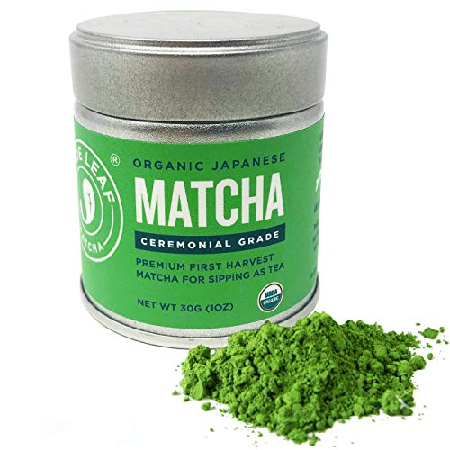 Jade Leaf Ceremonial Grade Matcha Green Tea Powder - Organic, Authentic Japanese Origin - Premium 1st Harvest [1oz Tin]