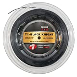 Tier One Sports Black Knight - Co-Poly Tennis String for The High Performance Player (Reel - Black, 16 Gauge (1.28 mm) - 200 m Reel)