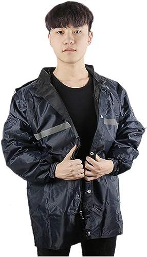 Imperméable Multifonctionnel Hommes Imperméable extérieur imperméable Manteau de Pluie de Scooter de Travail en Plein air avec imperméable refendu imperméable (Taille   XL)