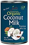 Organic Coconut Milk 13.5 Ounce (Pack of 12) Premium - Unsweetened, FULL 18% Fat, Vegan, Paleo, No...