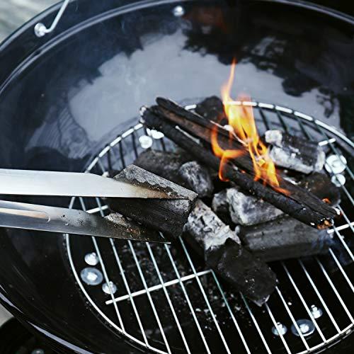 TACKLIFE Holzkohle Grill, Kugelgrill 91 * 76 * 56 cm, ø 57cm mit 4 Dicke Beine, Rundgrill mit Extra Grill und Regal, geeignet für Partys, Camping, Grillen (Empfohlene: 5-12 Personen) - CG01A - 9