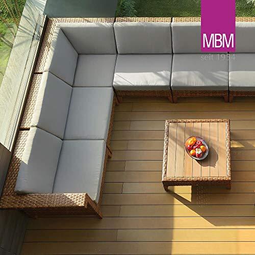 Gartentraum MBM - Cojín lateral para sofá esquinero (módulo de esquina), color crudo