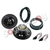 Sound-way Kit Altavoces con adaptadore y cables compatibles con Volkswagen Golf IV/Bora/Passat 16,5 cm 120 watt