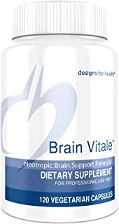 Designs for Health Brain Vitale with Citicoline - Cognition, Mood + Memory Support (120 Capsules)
