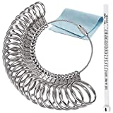 RSVLEISI Stainless Ring Sizers Finger Ring Sizer Measuring Tool, Men's and Women's Ring Measurement Tool Sizing US 0-13