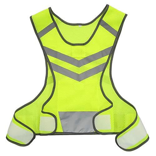 DYecHenG Chaleco de Seguridad Ejecución de Deportes al Aire Libre Chaleco Reflectante Ajustable Ligera de Malla Engranaje de Seguridad for Las Mujeres de los Hombres para Seguridad y Protección