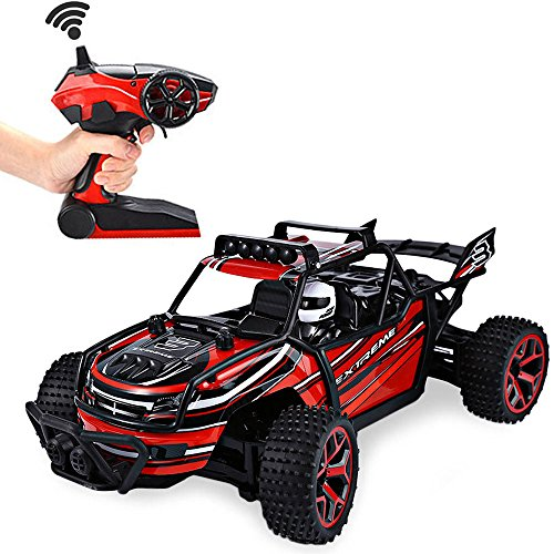 SZJJX RC Cars, 45KMH High Speed Racing Remote Control Monster Trucks 1/22 Scale 4WD 2.4Ghz Radio Controlled Off-Road Vehicle Rock Crawler Fast Electric Desert Buggy (Red2)