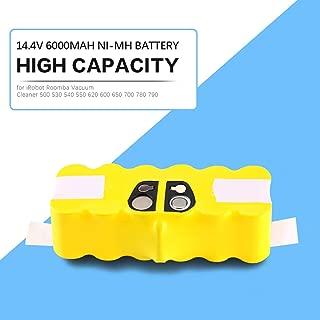 High Capacity 6000mAh 14.4V Battery for iRobot Roomba Vacuum Cleaner 500 530 540 550 620 600 650 700 780 790