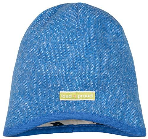 loud + proud Jungen Melangestrick Aus Bio Baumwolle, GOTS Zertifiziert Mütze, Blau (Cobalt Cob), 47/49 (Herstellergröße: 98/104)