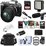 Fujifilm X-T4 Mirrorless Camera with XF 16-80mm f/4 R OIS WR Lens, Silver - Bundle with Shoulder Bag, 64GB SDXC Card, H&A Shotgun Mic, Table Top Tripod, Mini LED Light, Peak Cuff Wrist Strap, More