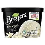Breyers Classics Ice Cream for a Delicious Frozen Treat Natural Vanilla Made with 100% Grade A Milk and Cream, Sustainably-Farmed Vanilla 48 oz