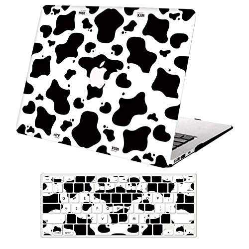 MacBook Pro 13 Inch Case 2012-2015 Release A1425/A1502,AJYX Plastic Pattern Hard Shell Cover + Keyboard Cover for MacBook Pro 13' Retina - Milk Cow
