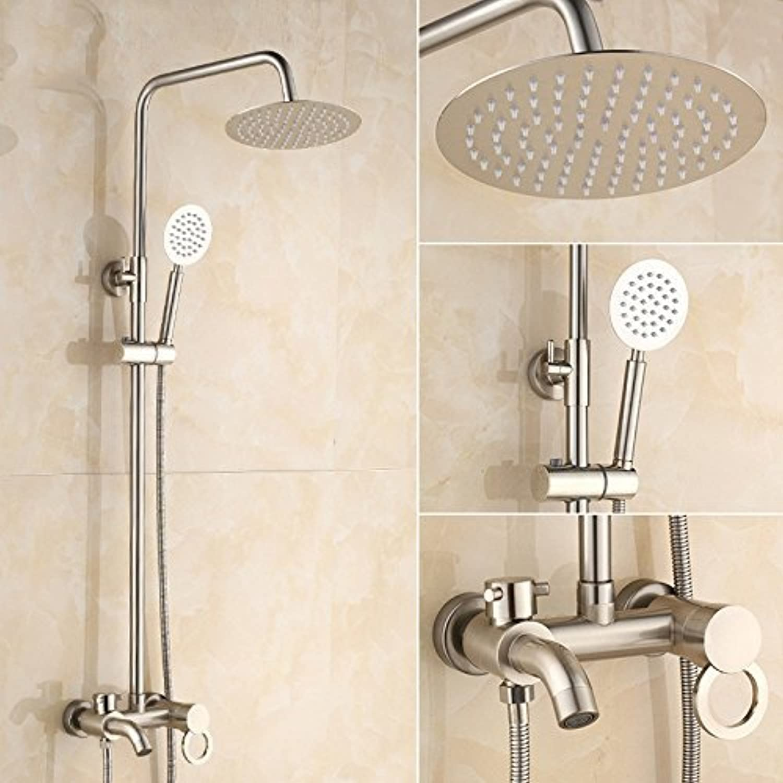 Fully Copper Shower Column Shower Booster Set Hand Shower Shower Faucet