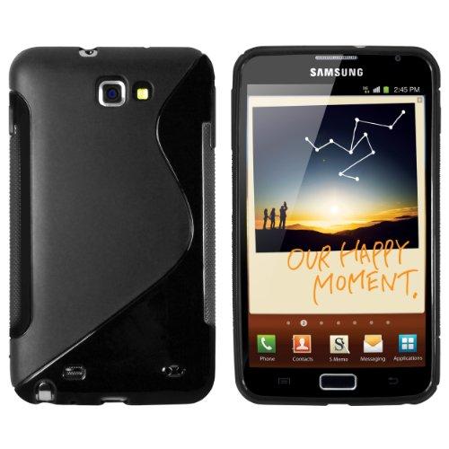 mumbi Hülle kompatibel mit Samsung Galaxy Note Handy Case Handyhülle, schwarz