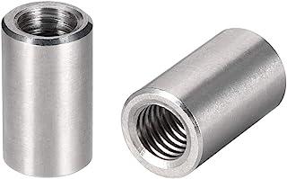 uxcell ラウンドカップリングナット スリーブロッドバースタッドナット 304ステンレス鋼 高さM8x20mm 10個入り