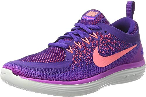 Nike Women's Free Rn Distance 2 Running, Scarpe Sportive Indoor Donna, Viola (Hyper Grape/lava Glow/court Purple), 37.5 EU