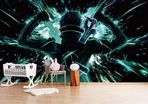 Blovsmile Sword Art Online Kirito/Yuuki Asuna Papel tapiz mural 3d simple kids room mural room wall poster living room decoration-350 * 280
