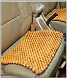 OnWheel Bead Seat Wooden Cushion Cover Pad for Acupressure Sitting in Full Beige Color for Car, Bus, Truck, Home, Office (1 pc)
