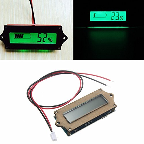Sale!! New 12V Lead-acid Lithium LiPo Battery Power Capacity LCD Indicator Tester Voltmete