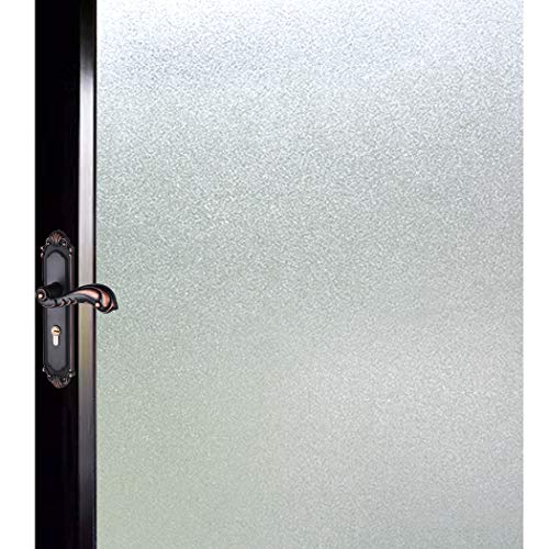 DUOFIRE Privacy Window Film Natural Frosted Glass Film Static Cling Glass Film No Glue Anti-UV Window Sticker Non Adhesive for Privacy Office Meeting Room Bathroom Living Room 17.7in. x 78.7in. S001