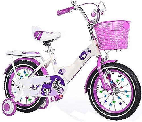 barato y de alta calidad Axdwfd Infantiles Infantiles Infantiles Bicicletas Bicicletas para Niños Bicicleta para Niños12   14 16 18 Pulgadas Niños y niñas Ciclismo, Adecuado para Niños de 2 a 9 años de Edad azul púrpura rojo  venta al por mayor barato