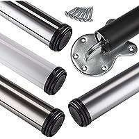 /Óptica de acero inoxidable Set de 4 unidades 20 mm Juego de patas extensibles de mesa Altura regulable 1100 mm Sossai/® Premium TBS