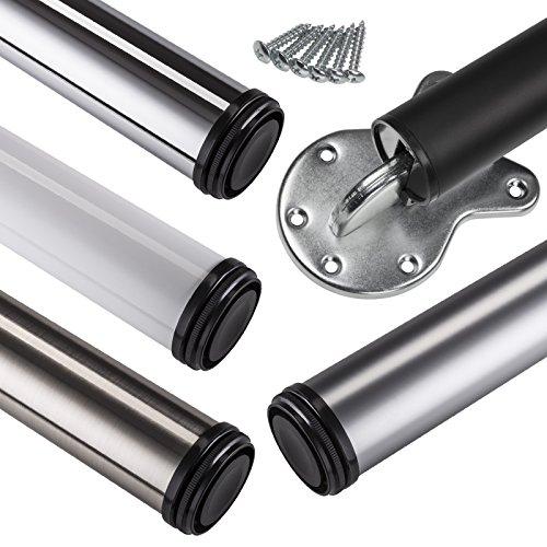 1 x Stützfuß klappbar Ø 50 mm Chrom poliert Höhe 710 mm verstellbar Stützbein Tischbein Klappstützfuß von SO-TECH®