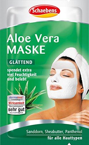Schaebens, maschera viso all aloe vera, confezione da 15 pezzi (15 x 10 ml)