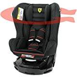 Mycarsit Siège Auto 360° Ferrari, Groupe 0+/1 (de 0 à 18 kg), Noir