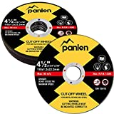 10 Pack Panlen Cutting Wheel,4-1/2-Inch Metal&Stainless Steel Cut-Off Disc,Thin Metal Cutting Disc for Angle Grinder by Panlen (10)