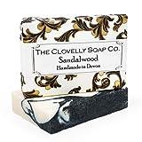 Clovelly Soap Co. Handgemachte Sandelholz, Bergamotte & und Kohle Naturseife für alle Hauttypen...