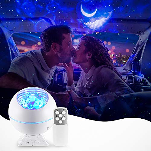Star Galaxy Light Projector,Sky Lite Ocean Night Light Galaxy Ceiling Nebula Cloud Moon Adults Bedroom,Led Voice Control Timer Skylight Room Kids Starry Lamp Valentines Day Gift Decorations Remote