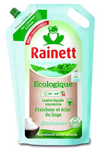 puissant Détergent liquide concentré bicarbonate écologique RAINETT, reconstitution 1,98 l