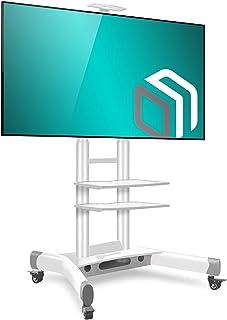 """ONKRON Stojak pod telewizor, podstawa do ekranów 32""""-65"""", uchwyt z regulacją wysokości, na kółkach, VESA 100 x 100 do 600x..."""