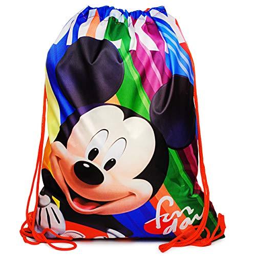 alles-meine.de GmbH Sportbeutel - Turnbeutel - Schuhbeutel - Disney - Mickey Mouse - wasserabweisend abwischbar - für Kinder - Kinderbeutel / Schlafsack - Schulbeutel Kindergarte..