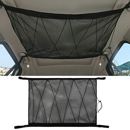 Balai Car Ceiling Storage Net Tasche - Universal Car Roof Interior Cargo Net Tasche mit Reißverschluss, Kofferraum