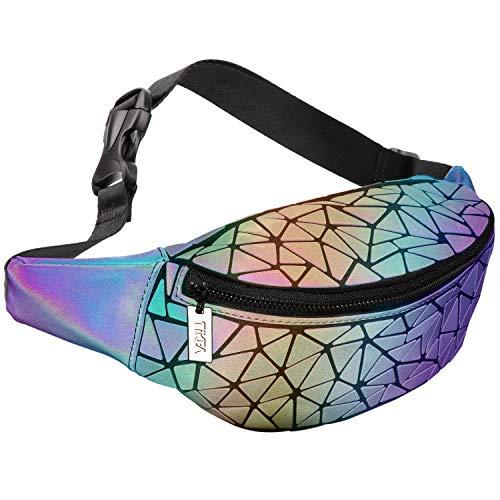 Tikea Bolsa Geométrica Luminosa Holográfica Mujer