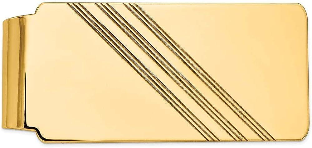 14k Yellow Max 59% OFF Import Gold Men's Money Clip