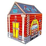 IPOTCH Tienda de Campaña Infantil Plegable Casa de Indios/Bomberos/Animales Carpa de Juego Regalo de Fiesta Cumpleaños para Niños - #6