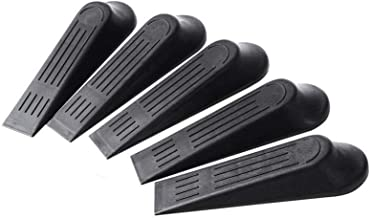 Door Stopper, Anti-collision Protection Door Stop 11,3 X 3,4 X 2 Cm / 4,45 X 1,34 X 0.79in, Black Door Stop Wedge, Wall Pr...