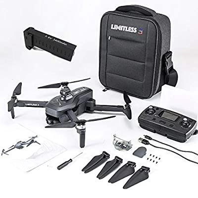 Drone X Pro LIMITLESS 3 GPS 4K UHD Camera Drone for Adults with EVO Obstacle Avoidance, 3-Axis Gimbal, Auto Return Home, Follow Me, Long Flight Time, Long Control Range, 5G WiFi FPV Live Video, EIS, Superior Stabilization