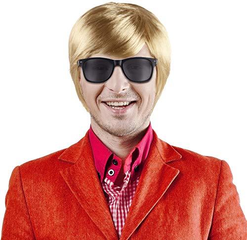 Balinco Set aus Schlagerstar Heino Perücke blond + Sonnenbrille schwarz