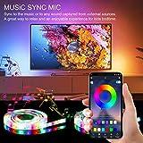 2.5M LED TV Hintergrundbeleuchtung, APP-Steuerung synchron zur Musik für Android iOS, Vorspannungs...