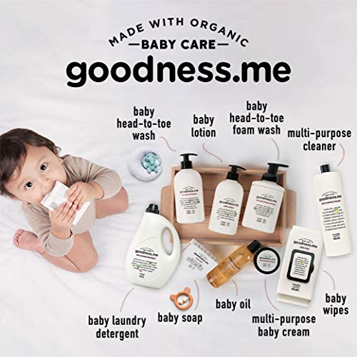 goodnessme Certified Organic Baby Massage & Hair Oil   Super Blend of 6 Organic Oils, 100ml, Paediatrician & ECOCERT France Certified, Hypoallergenic